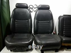 2000-2004 ford mustang GT black leather seat set power / manual fronts + rear OE