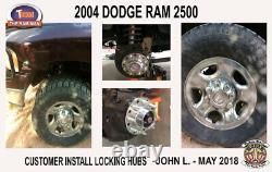 2003-2008 Dodge Ram 2500 or 3500 SRW Manual Locking Hub Conversion Kit