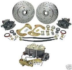 55 56 57 Chevy Belair Stock Spindle Manual Master Cyl Disc Brake Conversion Kit