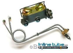 64-65 A Body Manual Drum Brake Dual Master Cylinder Conversion Kit Set W Tubes