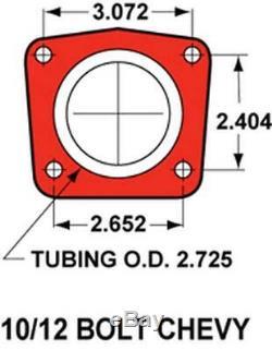 64-72 Chevelle Manual 4 Wheel Disc Brake Conversion Kit 11 Drilled Red Caliper