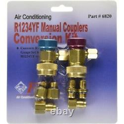 A/C Tool for R1234yf Refrigerant Gas Freon Manual Couplers Conversion Kit