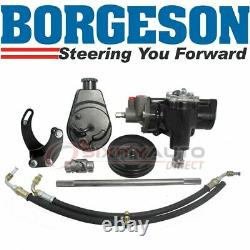 Borgeson Steering to Power Conversion Kit for 1958 Chevrolet Del Ray 4.6L V8 gx