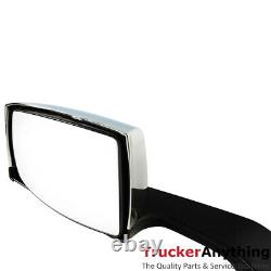 Hood Mirror Assy Volvo VNL 2004-2016 Left Right Manual Chrome Front Side View