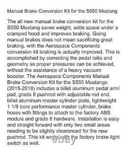 MUSTANG S550 AEROSPACE COMPONENTS 2015-16-17-18 Manual Brake Conversion Kit