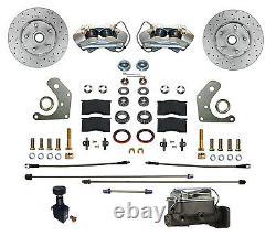 Mopar B & E Body Front Manual Disc Brake Conversion Kit with MaxGrip XDS Rotors