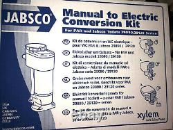 NEW jabsco electric conversion kit 29200-0120 12volt manual to electric