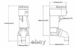 SEAFLO Manual to Electric Marine Toilet Conversion Kit