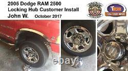 2003-2008 Dodge Ram 2500 Ou 3500 Srw Kit De Conversion De Moyeu De Verrouillage Manuel