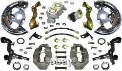 67 68 Camaro Manuel Disc Brake Conversion Kit 4 Piston & Import 2 Piece Rotors