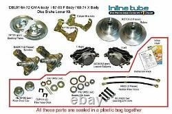 71-72 A-body Front Manual Disc Brake Conversion Wheel Kit Caliper Rotor Factory