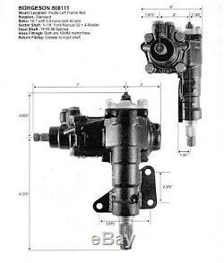Borgeson 999027 P / S Kit De Conversion Pour 1968-1970 Mustang Manuel Directeur
