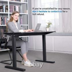 Cadre De Table De Bureau Debout Réglable En Hauteur Avec Kit De Conversion Manivelle Manivelle