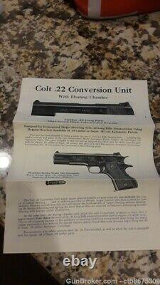 Colt 1911,22 Kit De Conversion Avec Boîte Et Manuel